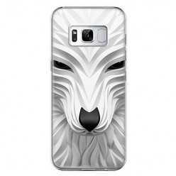 Etui na telefon Samsung Galaxy S8 - biały wilk 3d.