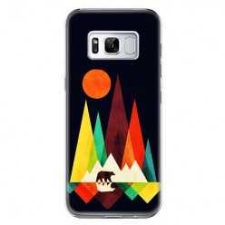 Etui na telefon Samsung Galaxy S8 - zachód słońca, abstract.