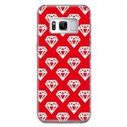 Etui na telefon Samsung Galaxy S8 - czerwone diamenty.