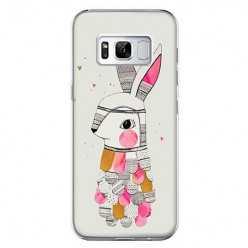 Etui na telefon Samsung Galaxy S8 - kolorowy królik.