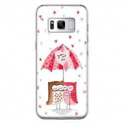 Etui na telefon Samsung Galaxy S8 - zakochane sowy.