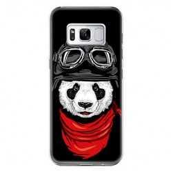 Etui na telefon Samsung Galaxy S8 - panda w czapce.
