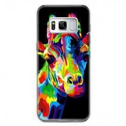 Etui na telefon Samsung Galaxy S8 - kolorowa żyrafa.