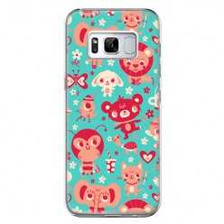 Etui na telefon Samsung Galaxy S8 - kolorowe zwierzaki.