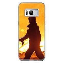 Etui na telefon Samsung Galaxy S8 - strażak w akcji.