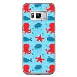Etui na telefon Samsung Galaxy S8 - morskie zwierzaki.