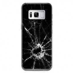 Etui na telefon Samsung Galaxy S8 - czarna rozbita szyba.
