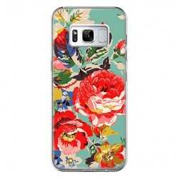 Etui na telefon Samsung Galaxy S8 - kolorowe róże.