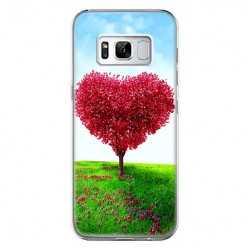 Etui na telefon Samsung Galaxy S8 - serce z drzewa.