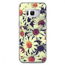 Etui na telefon Samsung Galaxy S8 - polne stokrotki.