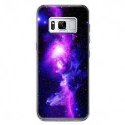 Etui na telefon Samsung Galaxy S8 - fioletowa galaktyka.