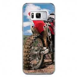 Etui na telefon Samsung Galaxy S8 - motocykl cross.