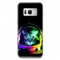 Etui na telefon Samsung Galaxy S8 - kot kosmonauta.