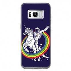 Etui na telefon Samsung Galaxy S8 - kosmiczny jednorożec.