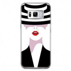 Etui na telefon Samsung Galaxy S8 - kobieta w kapeluszu.
