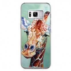 Etui na telefon Samsung Galaxy S8 - żyrafa watercolor.