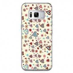 Etui na telefon Samsung Galaxy S8 - kolorowe serduszka.