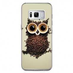 Etui na telefon Samsung Galaxy S8 - sowa z kawy.