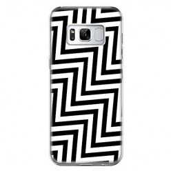 Etui na telefon Samsung Galaxy S8 Plus - czarno - biały Zyg Zag.