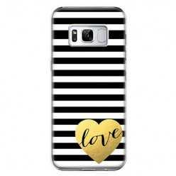 Etui na telefon Samsung Galaxy S8 Plus - złote LOVE.