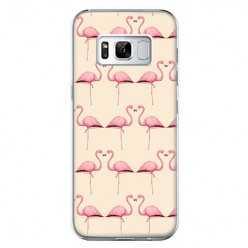 Etui na telefon Samsung Galaxy S8 Plus - różowe flamingi.
