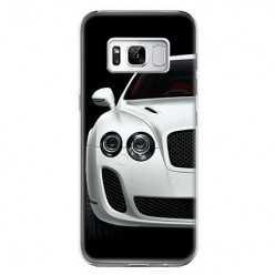 Etui na telefon Samsung Galaxy S8 Plus - biały samochód.