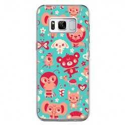 Etui na telefon Samsung Galaxy S8 Plus - kolorowe zwierzaki.