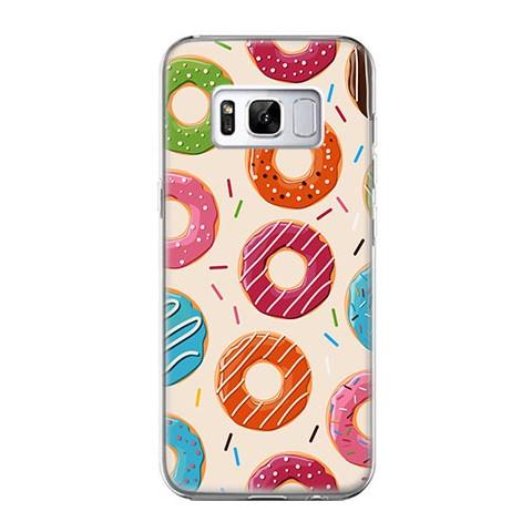 Etui na telefon Samsung Galaxy S8 Plus - kolorowe pączki.