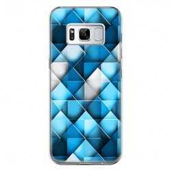 Etui na telefon Samsung Galaxy S8 Plus - niebieskie rąby.