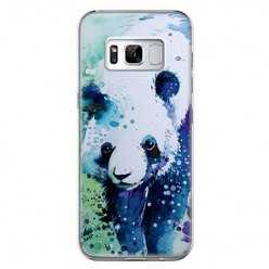 Etui na telefon Samsung Galaxy S8 Plus - miś panda watercolor.