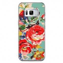 Etui na telefon Samsung Galaxy S8 Plus - kolorowe róże.