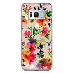 Etui na telefon Samsung Galaxy S8 Plus - kolorowe kwiaty.