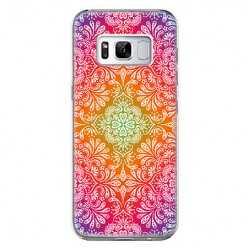 Etui na telefon Samsung Galaxy S8 Plus - kolorowa rozeta.