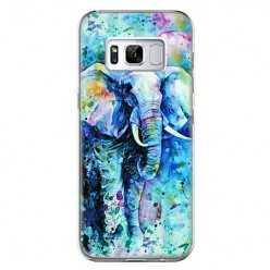 Etui na telefon Samsung Galaxy S8 Plus - kolorowy słoń.