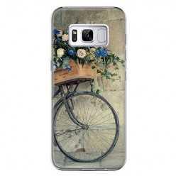 Etui na telefon Samsung Galaxy S8 Plus - rower z kwiatami.