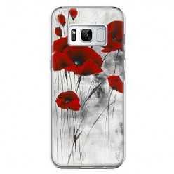 Etui na telefon Samsung Galaxy S8 Plus - czerwone kwiaty maki.