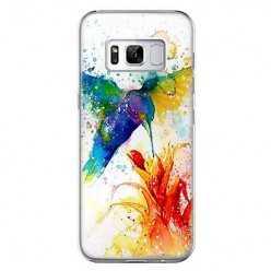 Etui na telefon Samsung Galaxy S8 Plus - niebieski koliber watercolor.