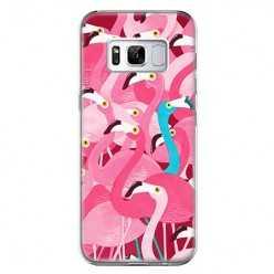 Etui na telefon Samsung Galaxy S8 Plus - różowe ptaki flaming.