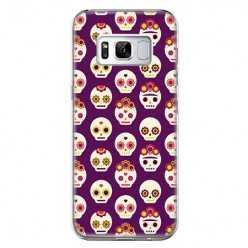 Etui na telefon Samsung Galaxy S8 Plus - kolorowe czaszki.