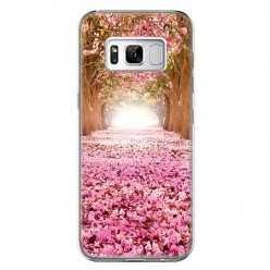 Etui na telefon Samsung Galaxy S8 Plus - różowe liście w parku.