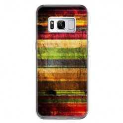 Etui na telefon Samsung Galaxy S8 Plus - kolorowe ciemne pasy.
