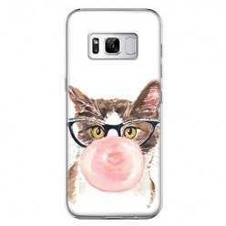 Etui na telefon Samsung Galaxy S8 Plus - kot z gumą balonową.