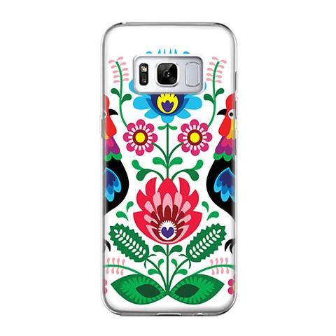 Etui na telefon Samsung Galaxy S8 Plus - łowickie wzory kwiaty.