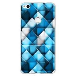 Etui na telefon Huawei P9 Lite 2017 - niebieskie rąby.