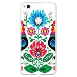 Etui na telefon Huawei P9 Lite 2017 - łowickie wzory kwiaty.