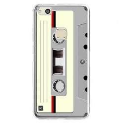 Etui na telefon Huawei P10 Lite - kaseta retro - biała.