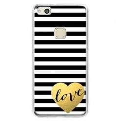 Etui na telefon Huawei P10 Lite - złote LOVE.