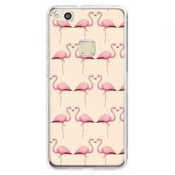 Etui na telefon Huawei P10 Lite - różowe flamingi.