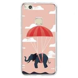 Etui na telefon Huawei P10 Lite - słoń na spadochronie.