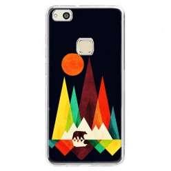Etui na telefon Huawei P10 Lite - zachód słońca, abstract.